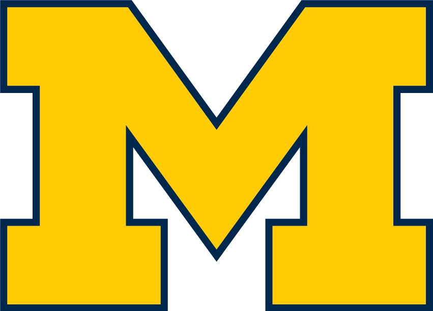 Michigan logo png. File wolverines block m