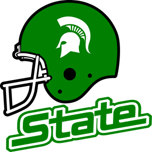 Seahawks vector helmet. Michigan state spartans logo