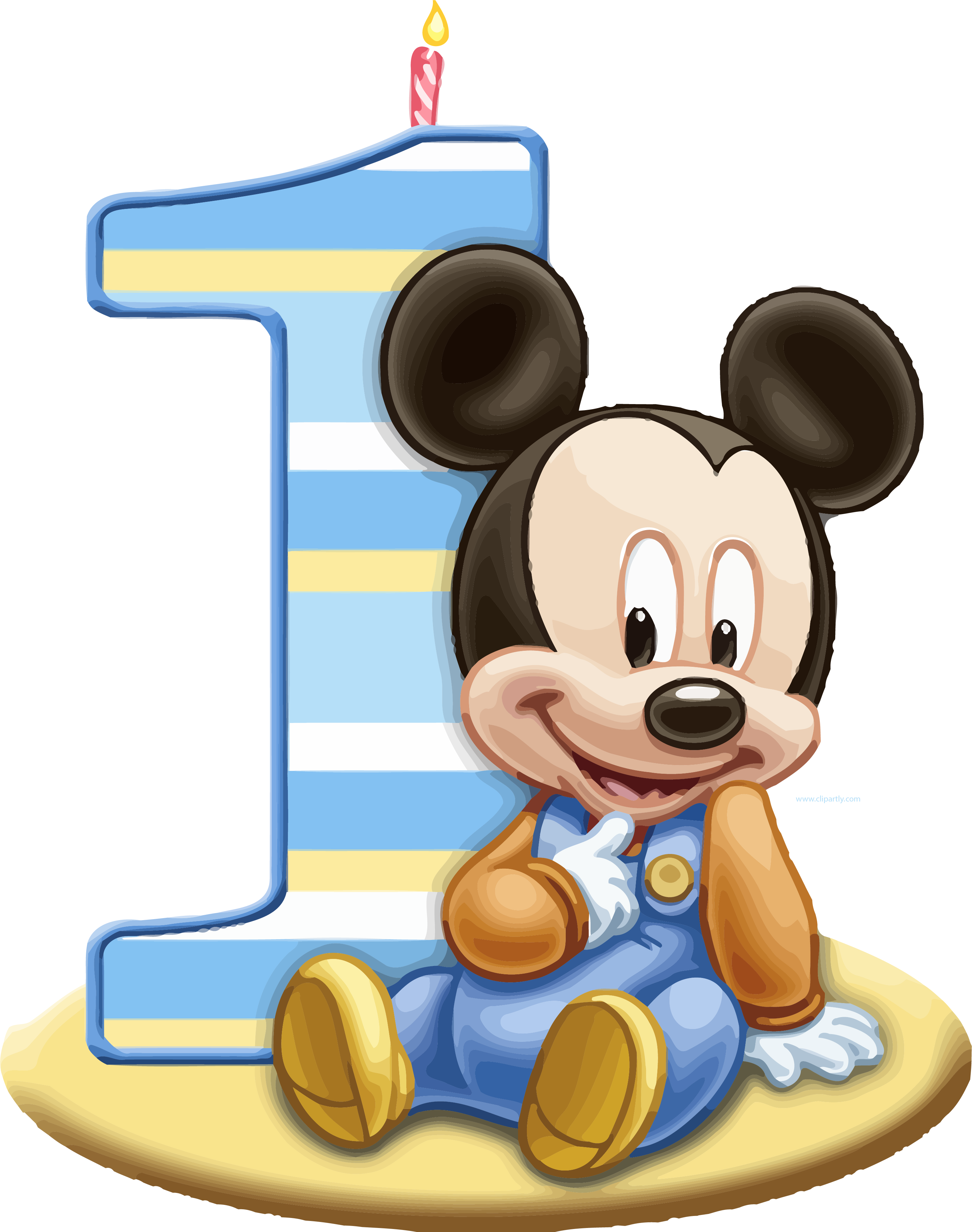 Mickey 1 png. Baby one clipart clipartly