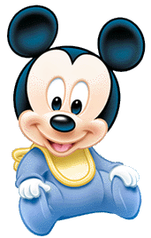 Mickey mouse bebe png. Para imprimir cakes baby