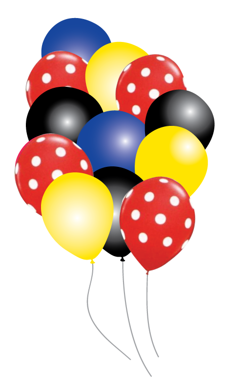 Mickey mouse balloons png. Party pack just for