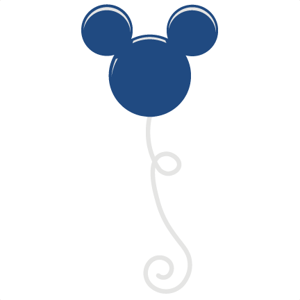 Mickey mouse balloons png. Balloon svg scrapbook file