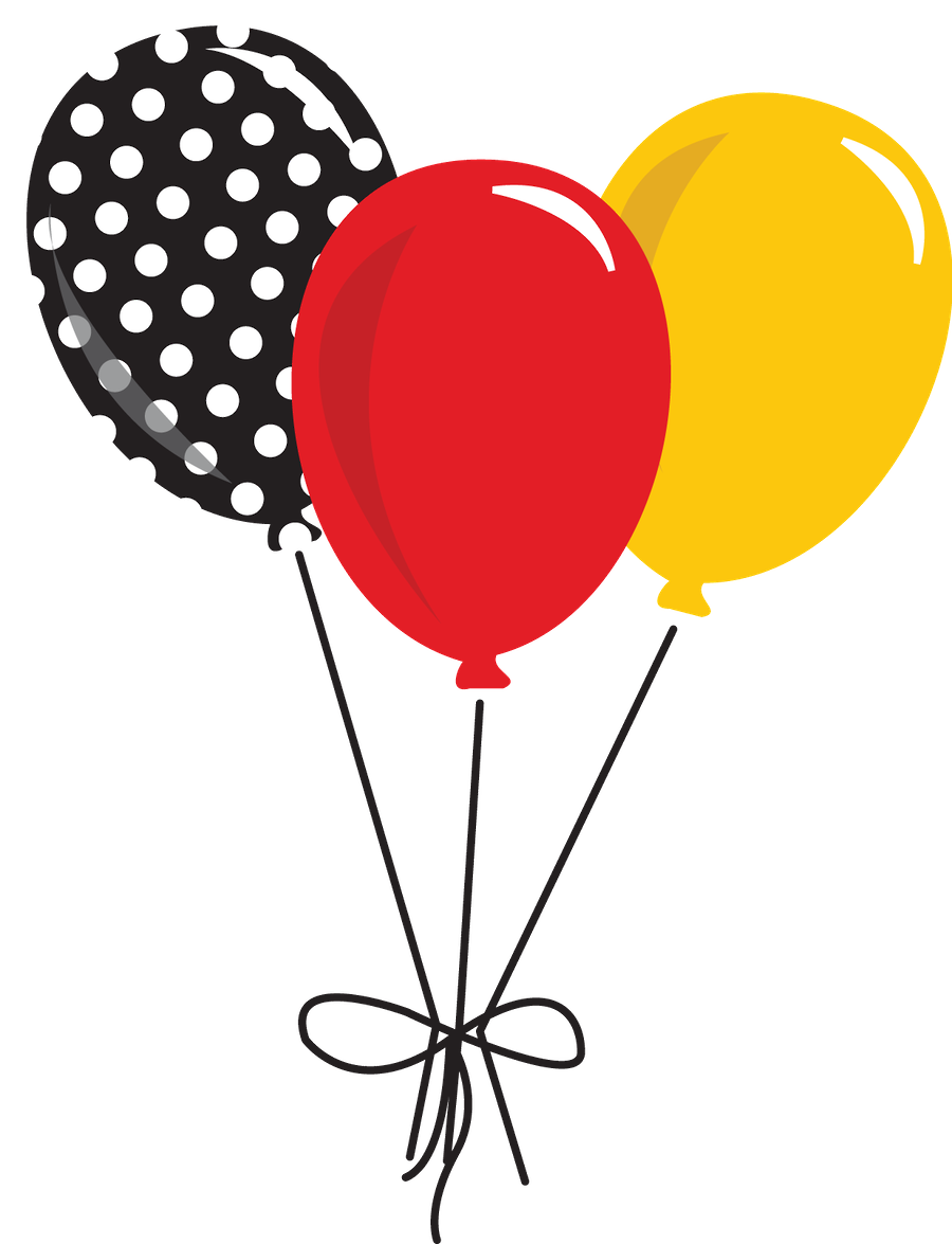 Mickey mouse balloons png. E minnie minus banner
