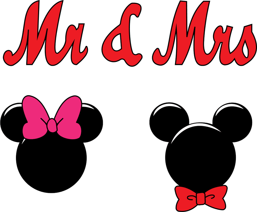 Mickey clipart bow tie. Mr and mrs mouse