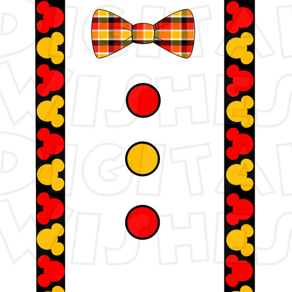 Mickey clipart bow tie. Mouse and suspenders image