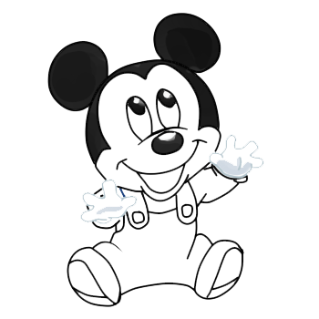 Mouse svg sketch. Mickey black and white