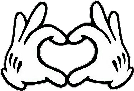 Mickey gloves png. Hand mao m o