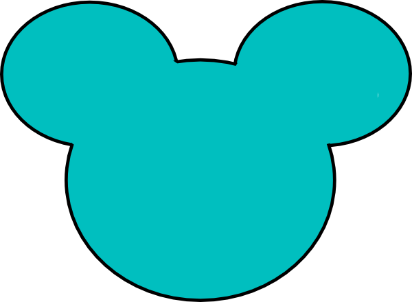Mickey mouse outline png. Teal clip art at