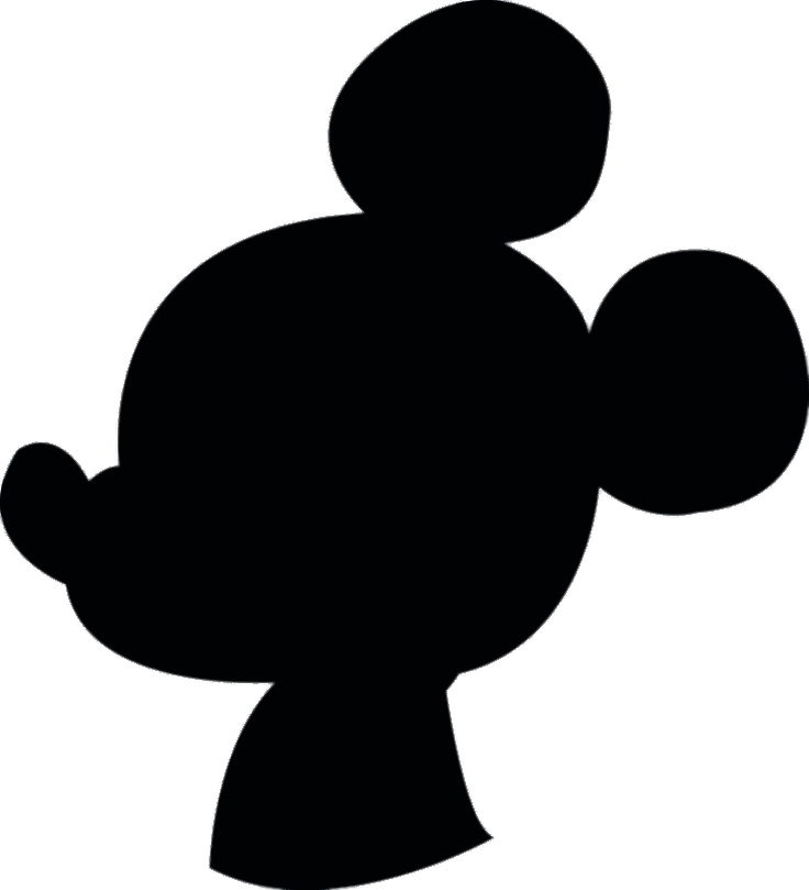 Mickey mouse silhouette png. Transparent stickpng