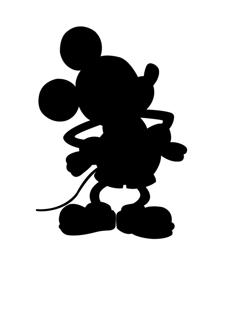 Mickey head silhouette png. Mouse para recortar playeras