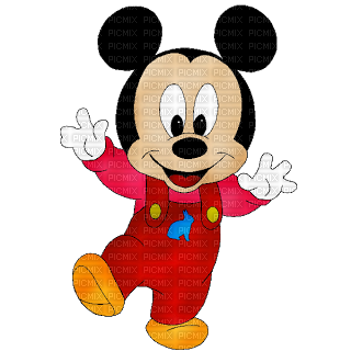 Mickey mouse baby png. Red picmix