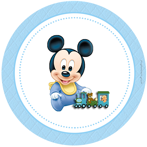 Mickey mouse baby shower banner png. Kit personalizados disney para