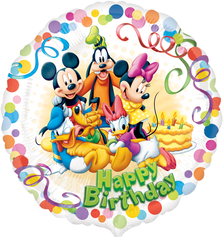 Mickey mouse happy birthday png. Download balloons image with