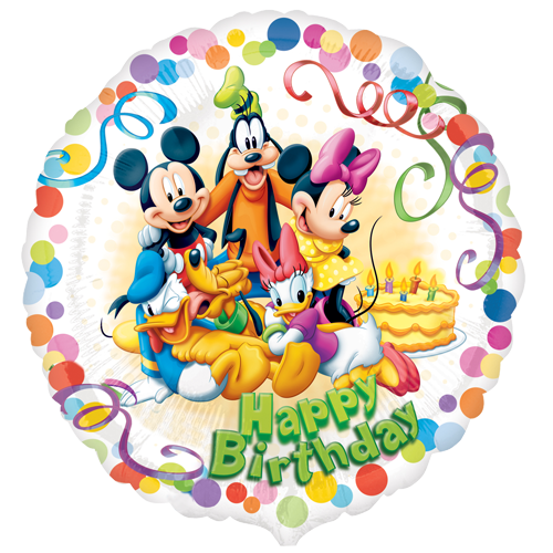 Happy birthday mickey mouse png. And friends party