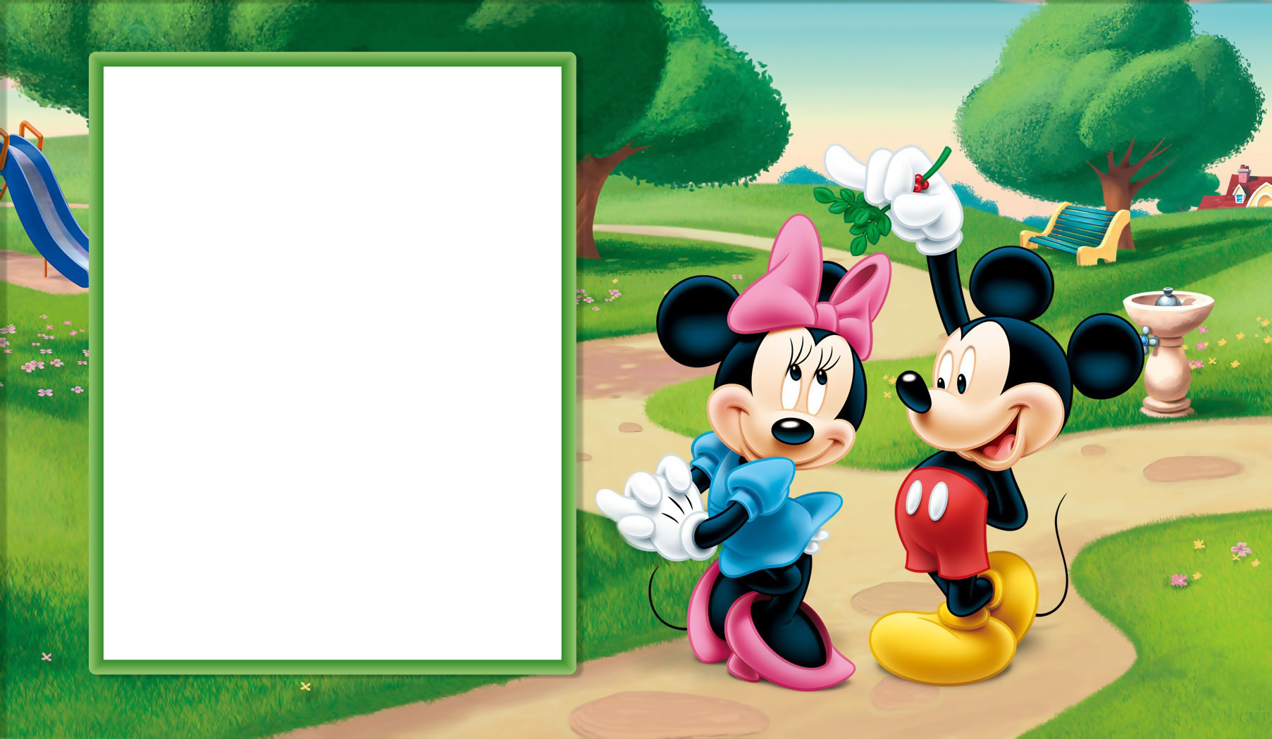 Mickey mouse border png. Minnie and transparent kids