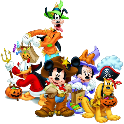 Mickey mouse characters png. Disney halloween