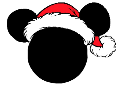 Mickey mouse ears silhouette png. Group clipart santa pencil