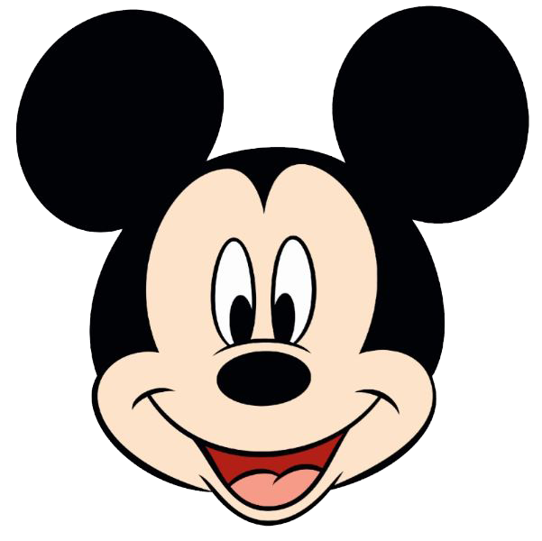 Face silhouette at getdrawings. Mickey mouse head outline png png transparent download