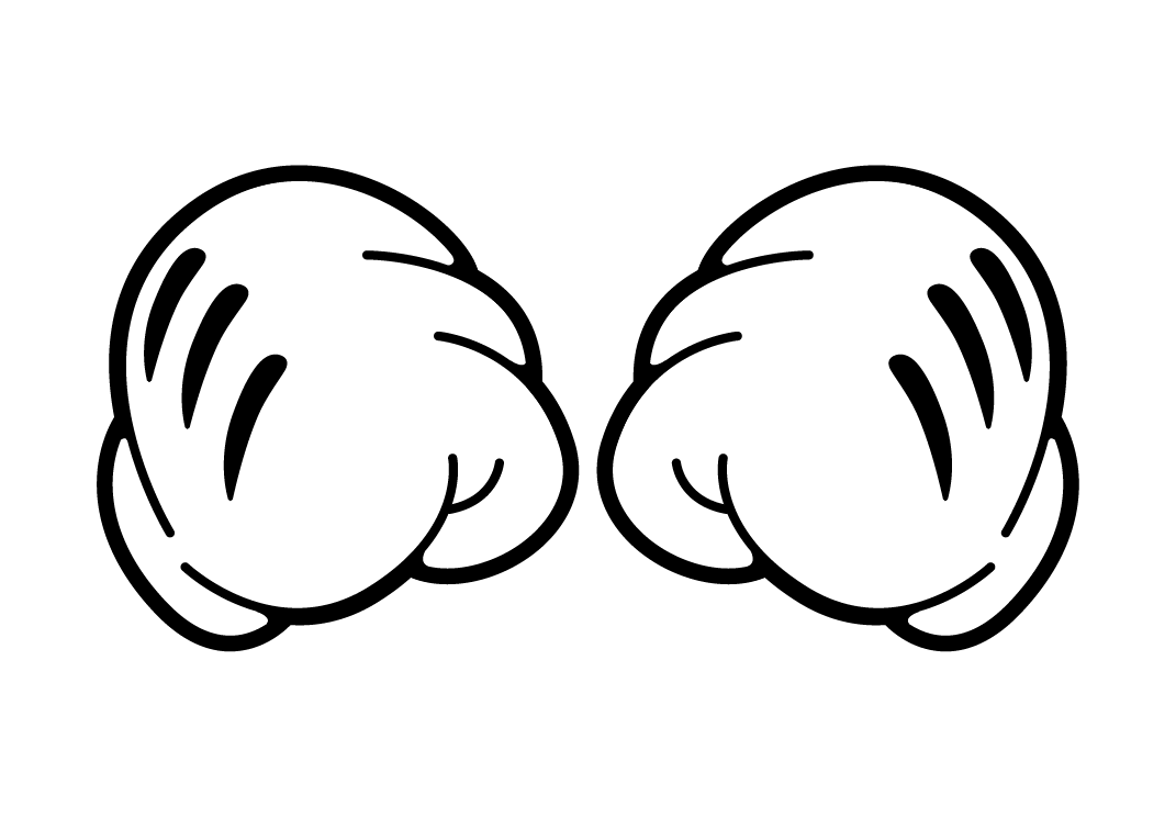 Mickey mouse hand png. Closed fists s hands