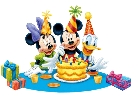 Mickey mouse happy birthday png. Zenetek s gifs