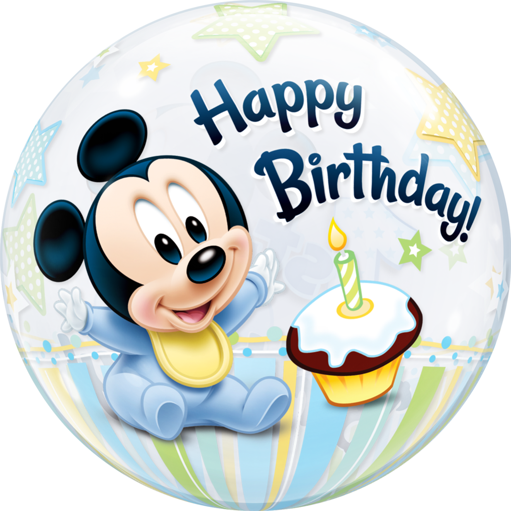 Mickey mouse happy birthday png. Disney st bubble balloon