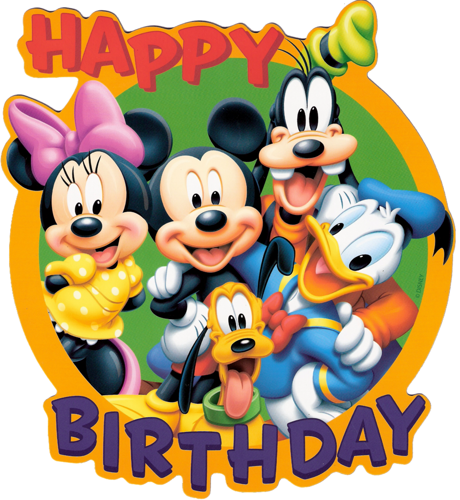 Happy birthday signs cruise. Mickey y sus amigos png banner black and white download