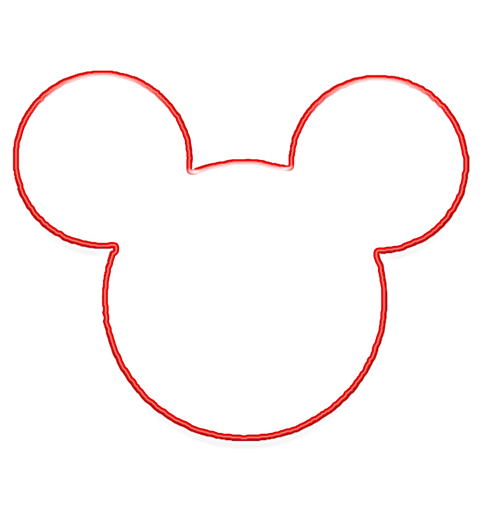 Be their guest september. Mickey mouse head outline png vector stock