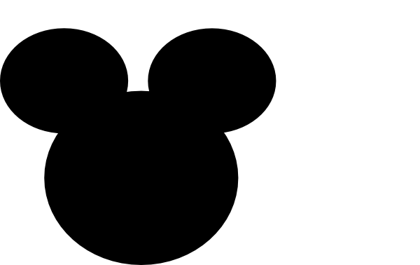 Mickey mouse head outline png. And minnie silhouette at