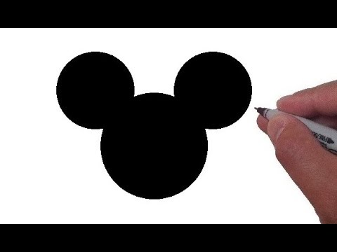 Mickey mouse logo. How to draw the