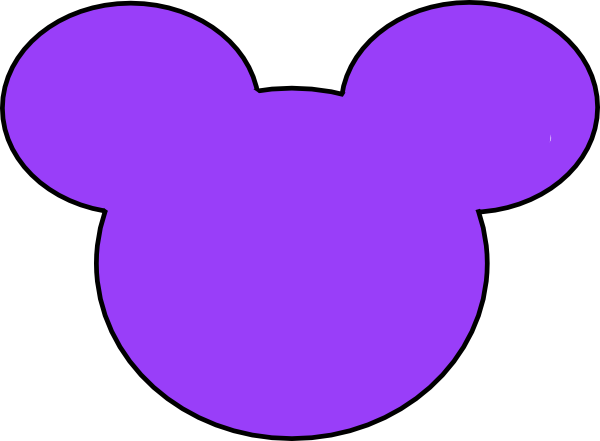 Mickey mouse outline png. Purple clip art at