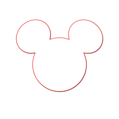 Mickey mouse outline png. Minnie head free download