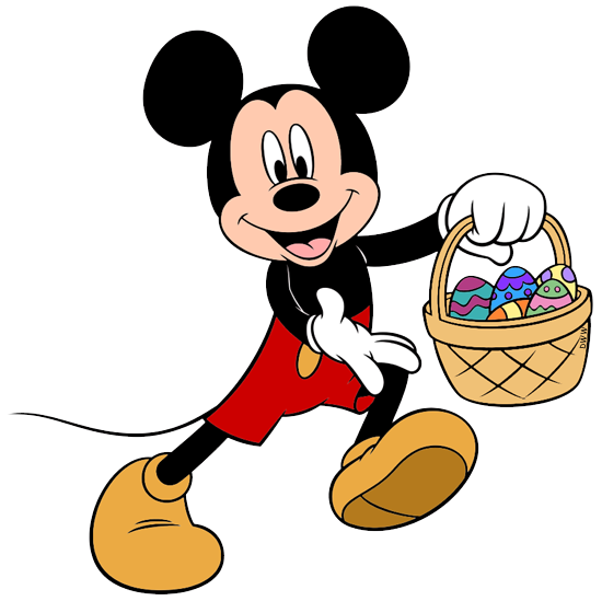happy easter clipart mickey mouse