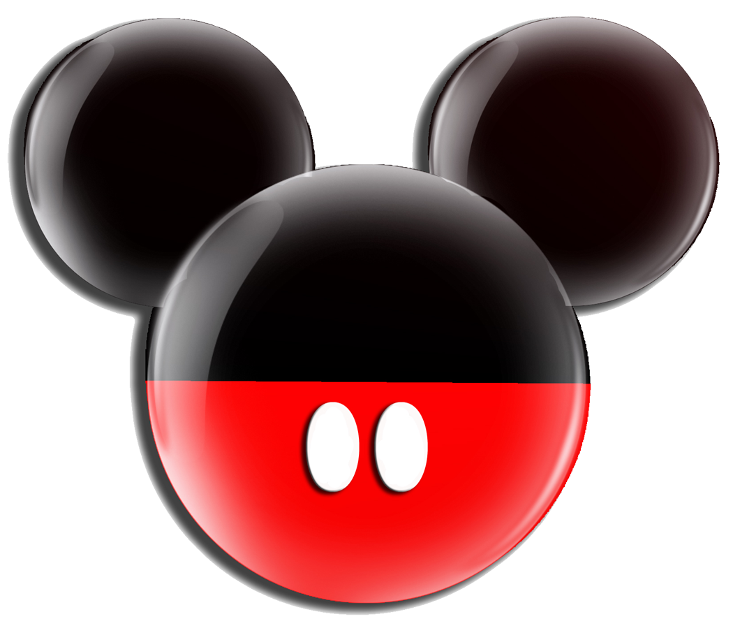 Black red icon free. Mickey mouse head outline png picture free download