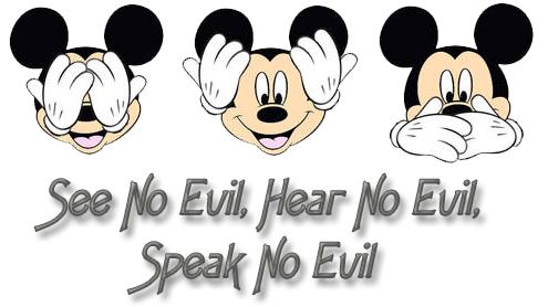 Mickey mouse peeking png. Faces clipart see hear