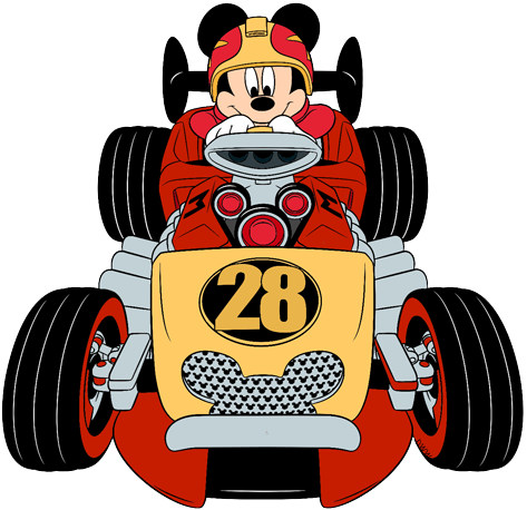 Mickey mouse roadster png. And the racers clip