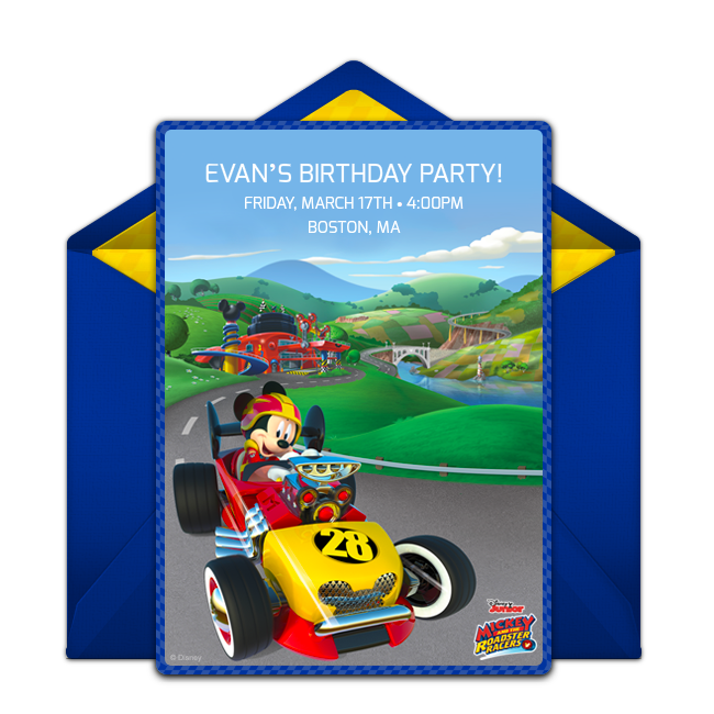 Mickey mouse roadster png. Free online invitation punchbowl