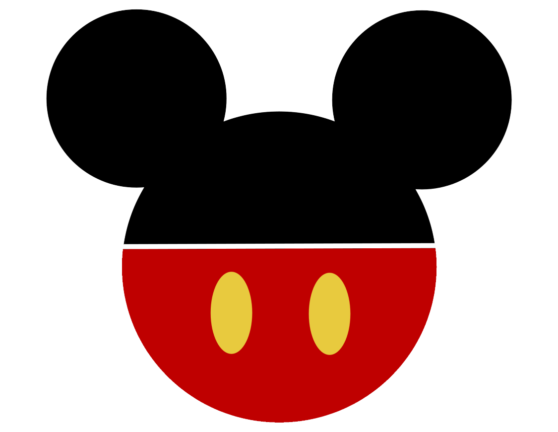 Mickey mouse silhouette png. Head group icon colors
