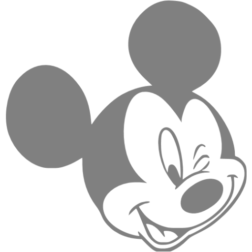 Mickey shape png. Gray mouse icon free