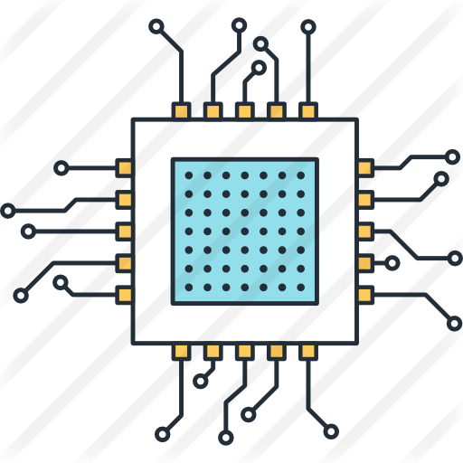 Microchip vector background. Free technology icons