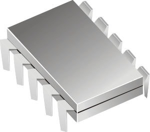 Microchip vector integrated circuit. Electronics ic clip art