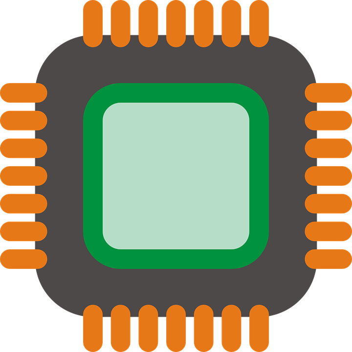 Microchip vector integrated circuit. Free photo hardware computer