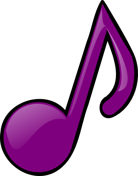 music note clipart purple