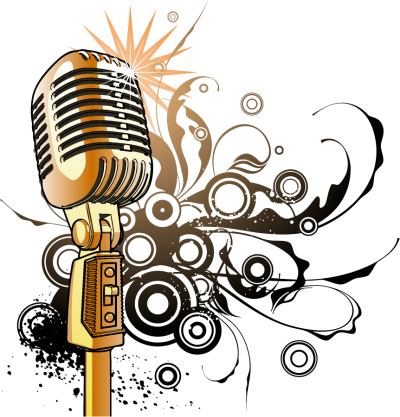 Microphone music notes png. Download free transparent image