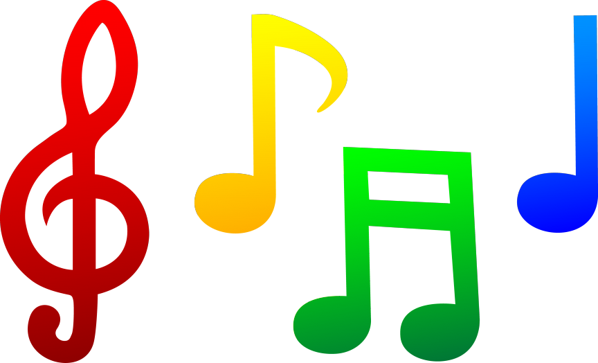Microphone and music notes png. Note symbol drawing at
