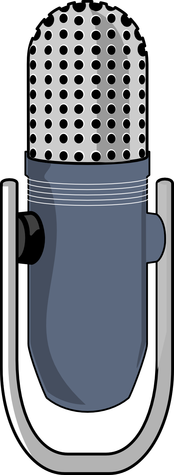 Microphone clipart studio microphone. With music notes panda