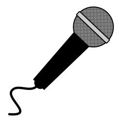 Microphone clipart. Free from icontoon com