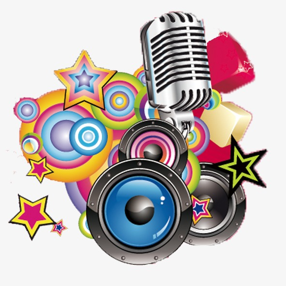 Microphone clipart colored. Music musical elements color