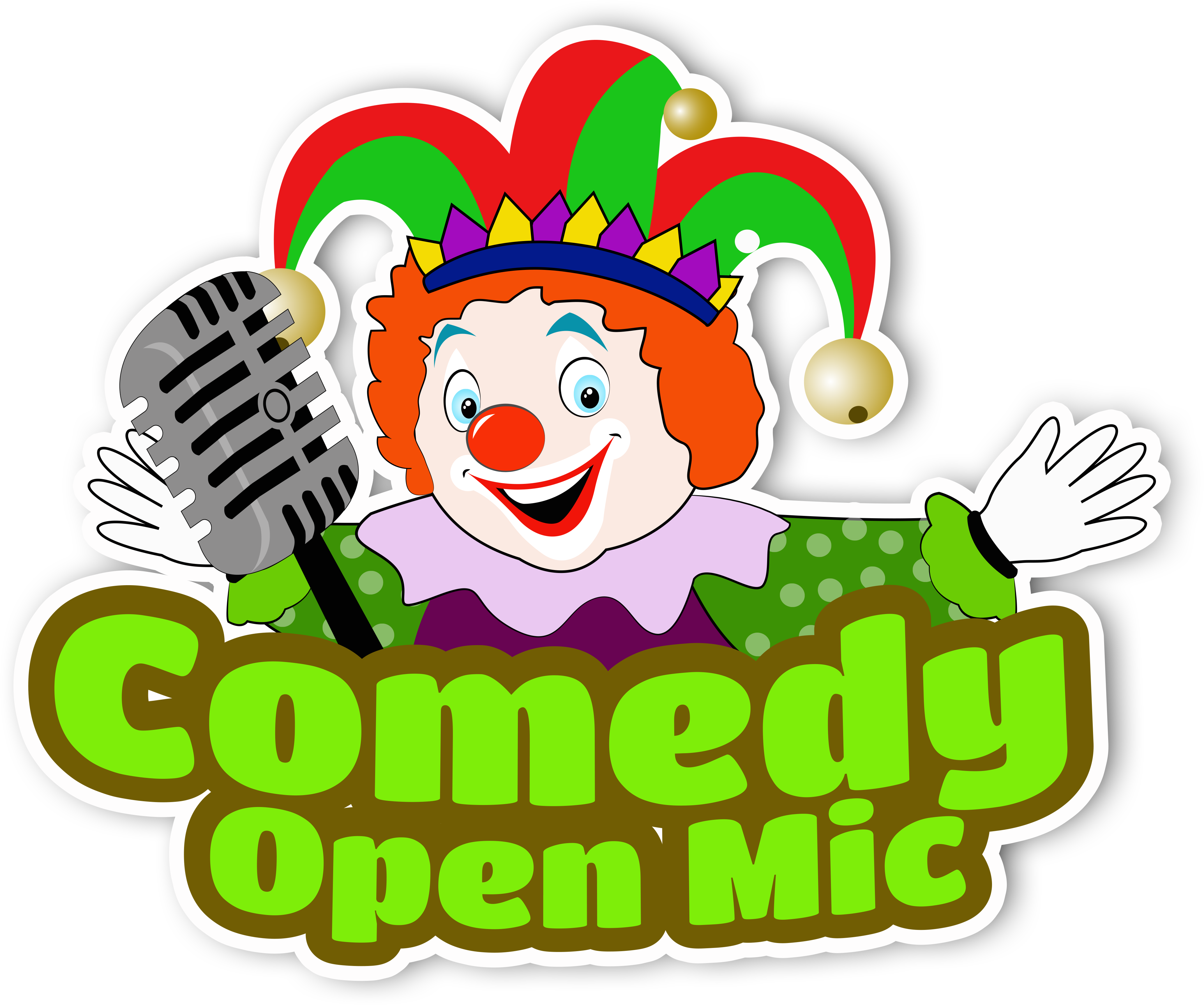 Microphone clipart comedy. Download hd open mic