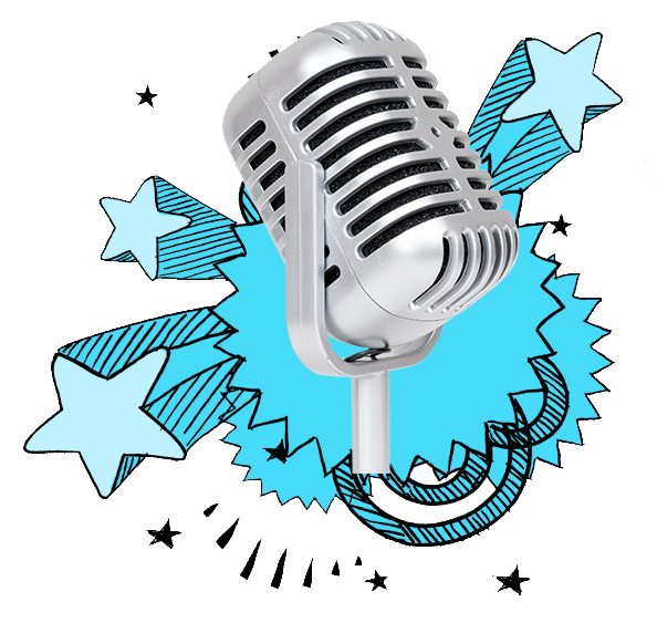 Microphone clipart comedy. Follow your tart sweetarts