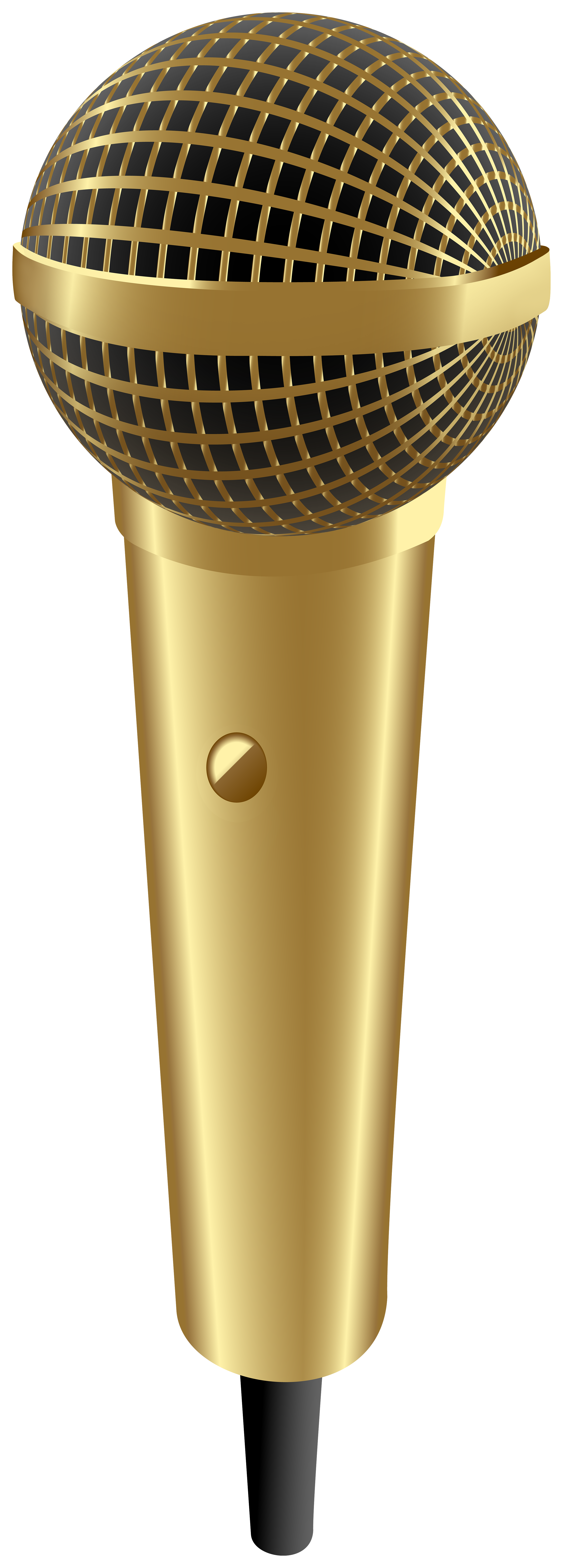 Microphone clipart gold. Transparent image gallery yopriceville